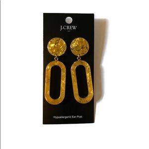 J.crew tortoise statement earrings